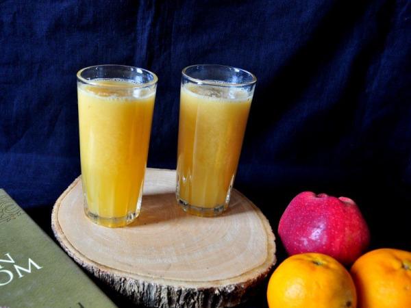 Orange Apple Ginger Juice