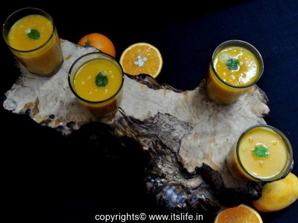 Orange Banana Mango Smoothie Recipe
