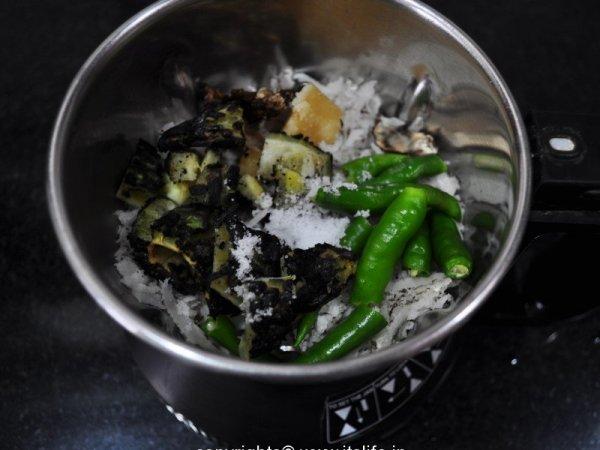 Hagalkayi Chutney Recipe