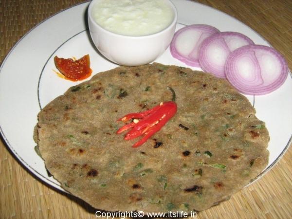 Jowar Bhajra Paratha