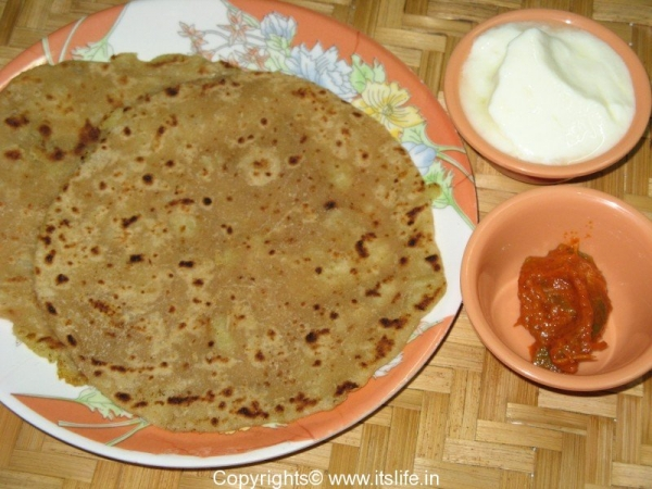Sweeet Potato Paratha