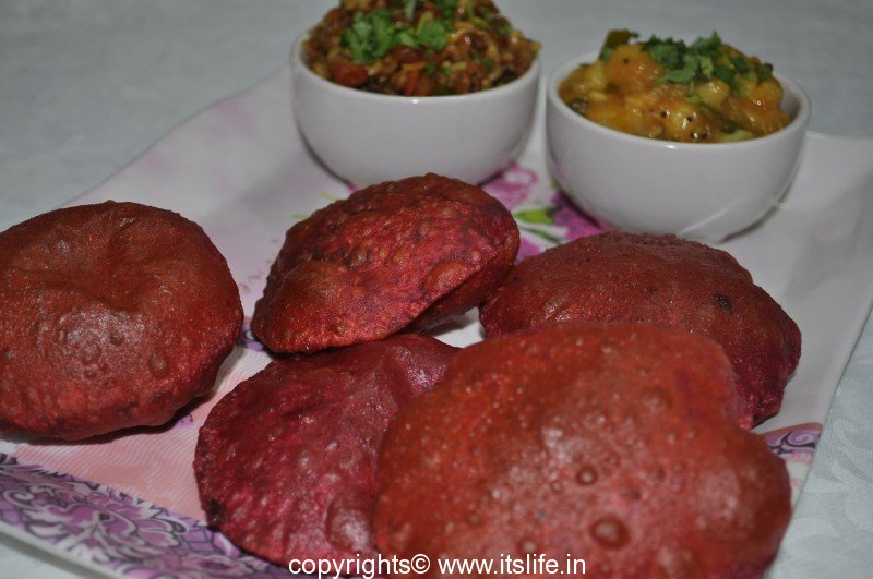 Beetroot Poori | itslife.in