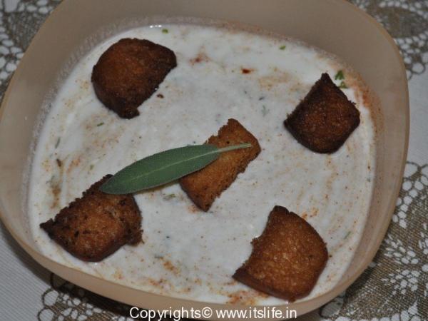 Bread Raitha Recipe