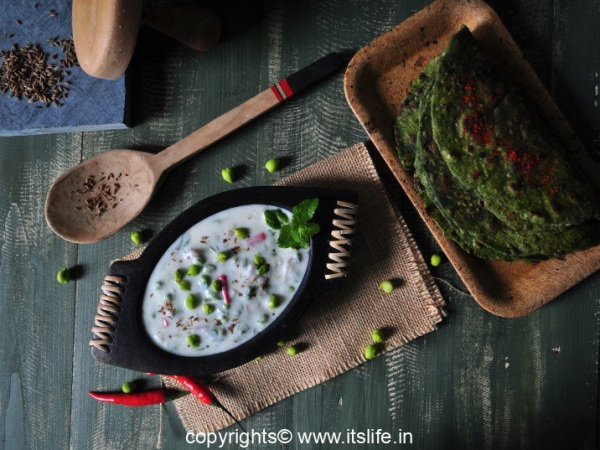 Green Chikpea Raitha