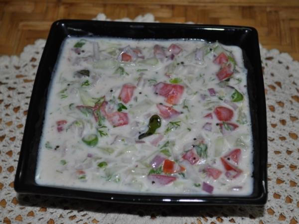 Mixed vegetable raitha