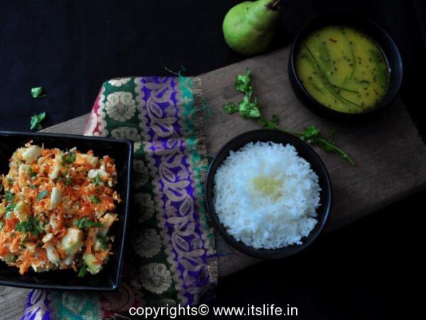 Pear and Carrot Kosambari