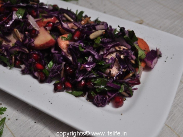 Purple Cabbage and Apple Salad