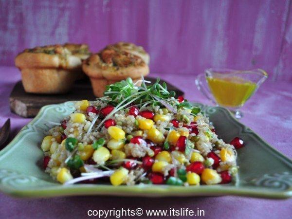 Quinoa Microgreens Salad