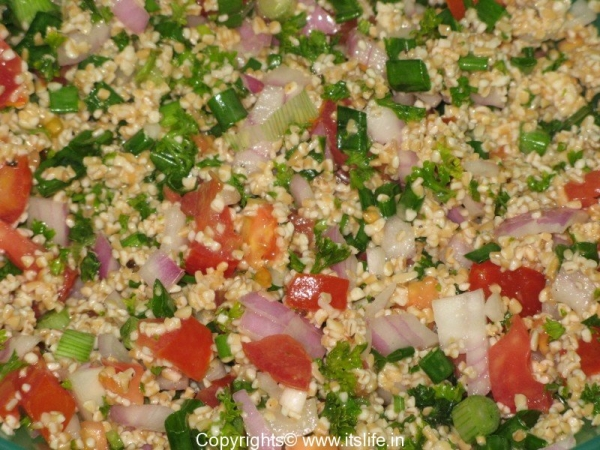 Tabbouleh - Broken Wheat Salad