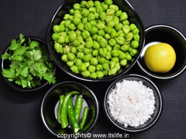 Green Chik Peas Salad Recipe