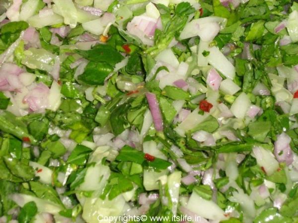 Methi - Fenugreek Leaves Salad