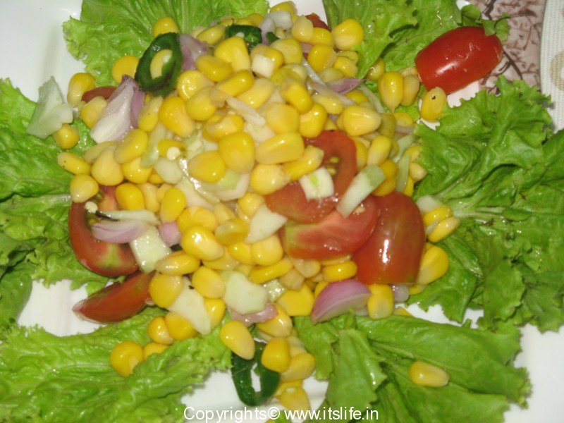 Sweet Corn Salad Recipe | Sweet Corn Recipe | Vegetarian Recipe