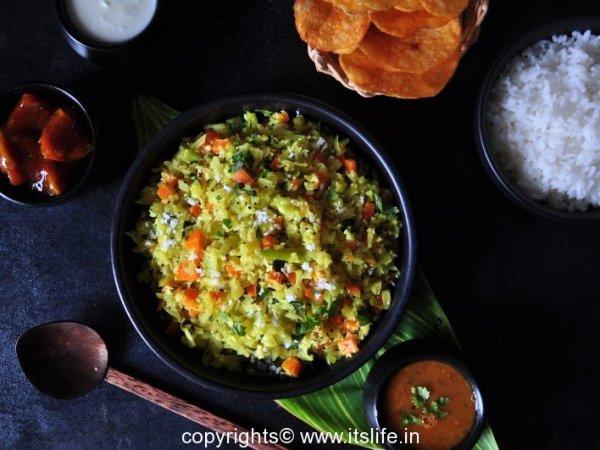 Cabbage Carrot Palya