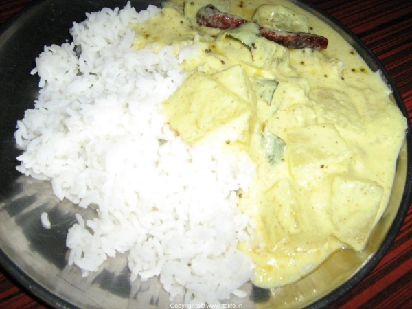 Majjigehuli with Rice