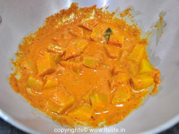 Pumpkin in Gravy Recipe