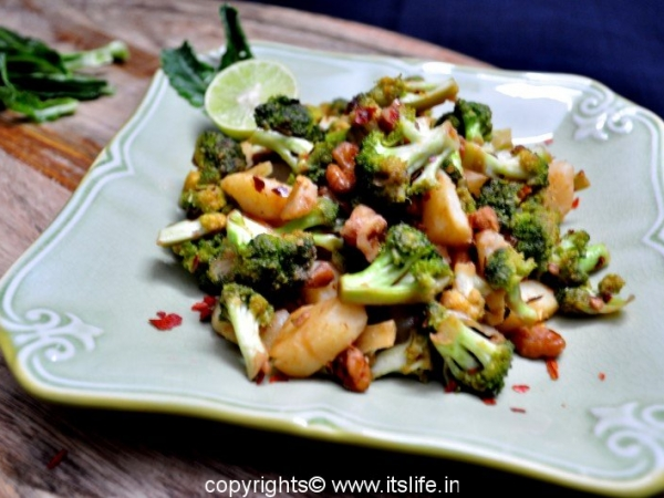 Broccoli and Potatoes Stir Fry