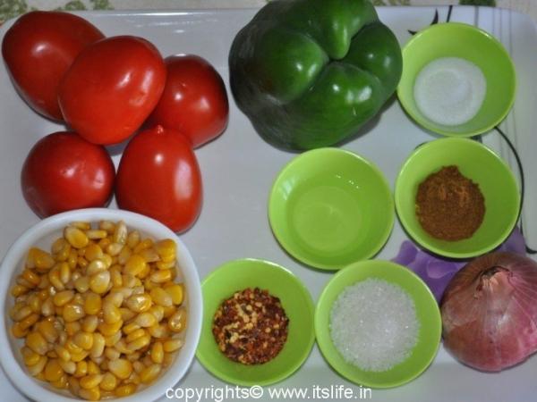 Pepper, Tomato, Corn Relish