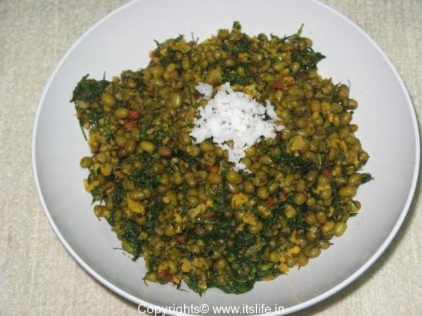 Hesarukalu Sabsige Palya - Green Gram Dill Side Dish