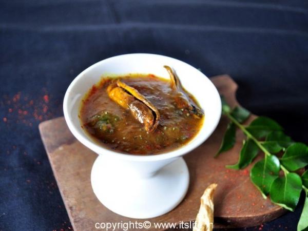 Mavinakayi Hasi Gojju Recipe