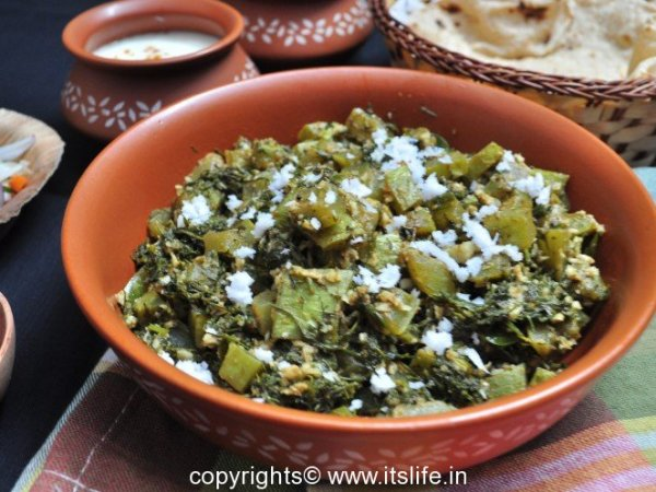 Dill and Snake Gourd dish