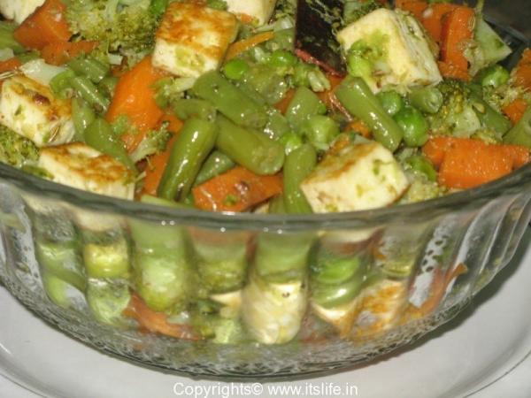 Paneer Vegetable Sauté
