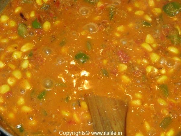 Masaledar Corn and Capsicum