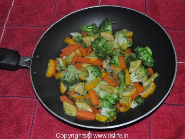 Zucchini, Broccoli, and Carrot Saute