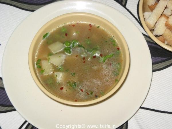 Potato and Peas Soup