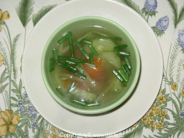 Cucumber Carrot Clear Soup