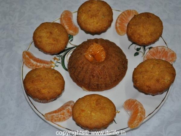 Eggless Orange Cup Cake