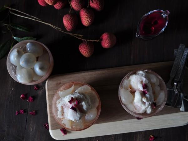 Lychee Rose Ice Cream