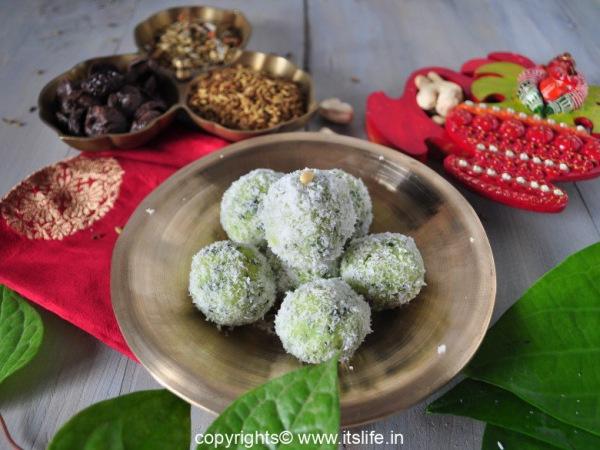 Paan Coconut Laddoo