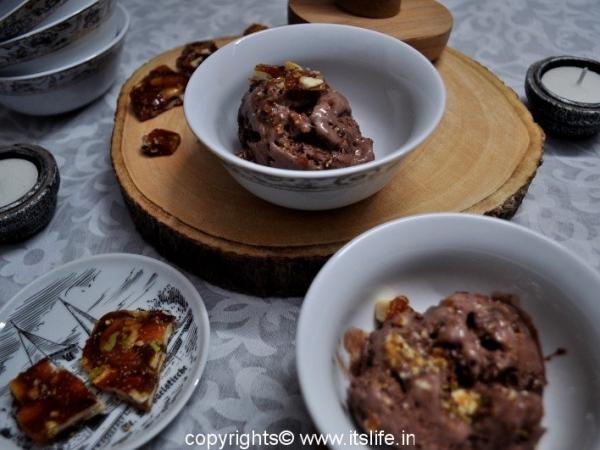 Choco nut ice cream
