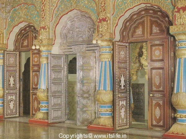 Mysore Palace - Silver Door