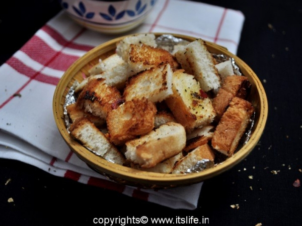 how to make croutons with bread