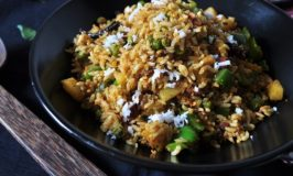 Alu Capsicum Peas Bhath – Potatoes Capsicum Peas Rice