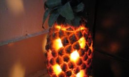 Pineapple lamp shade