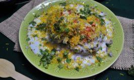 Alu Tikki Chaat – Potato Patties with Tangy Spicy Sauce