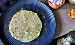 Pumpkin and Spinach flat bread