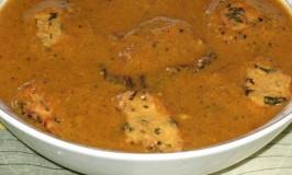 Gojjambode – Fritters in Gravy – Dal Vada – Puruppu Vadai in Kutsu