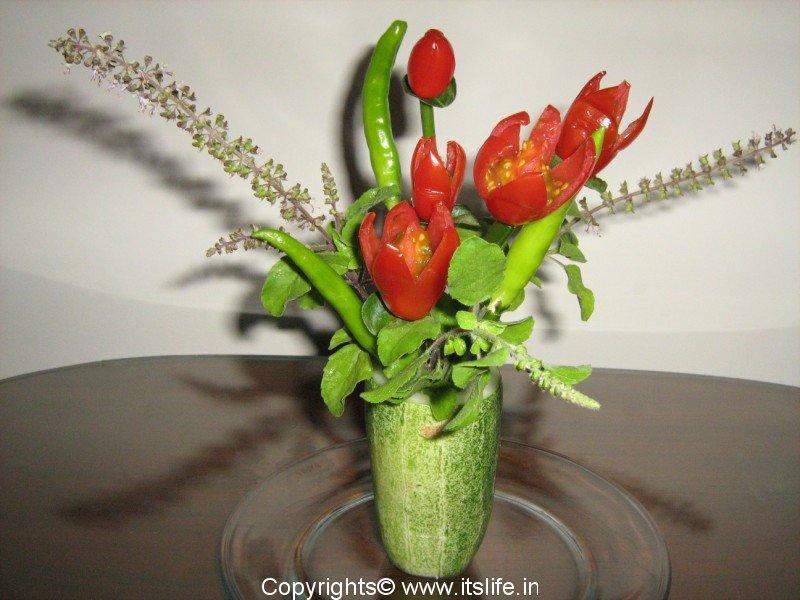 Cherry Tomato Flower Arrangement