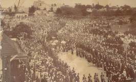 Mysore Dasara Procession in Black and White