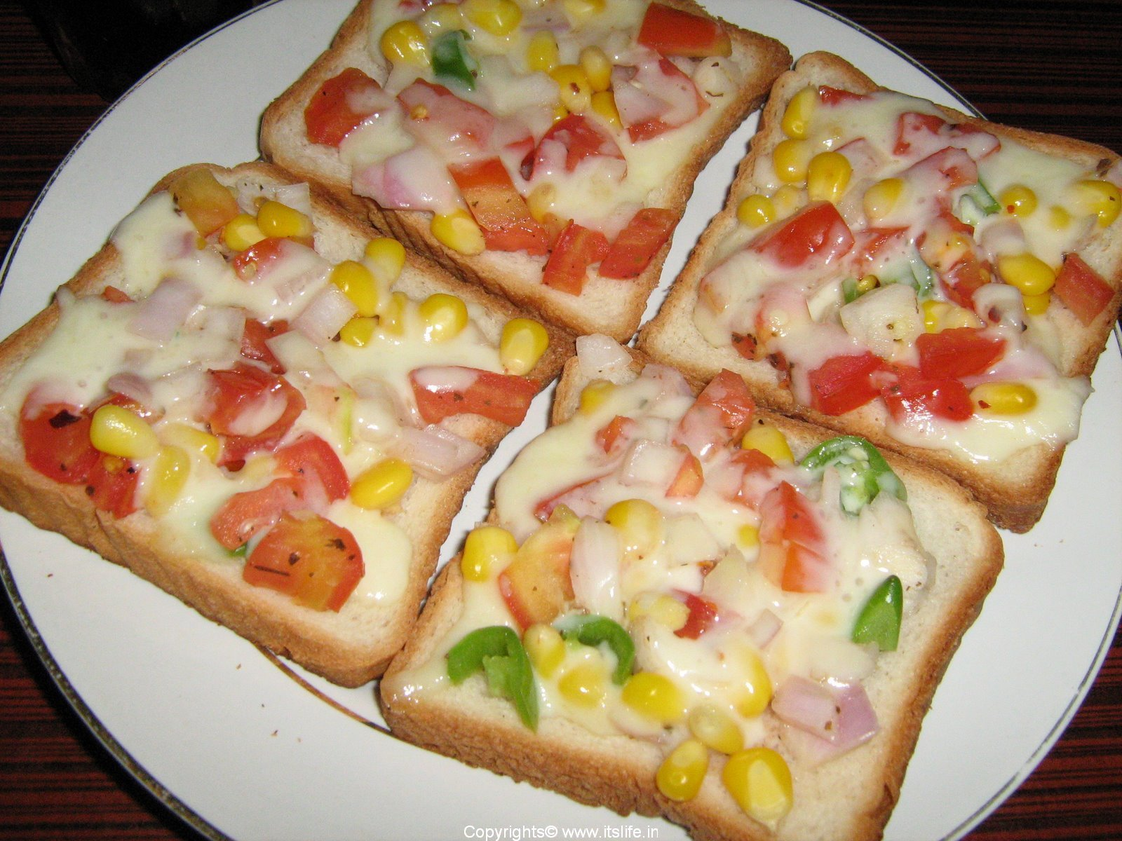 Vegetable Cheese Toast Recipe