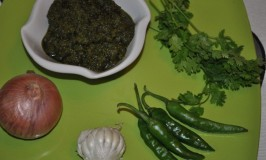 Onion Garlic Chilies Coriander Chutney
