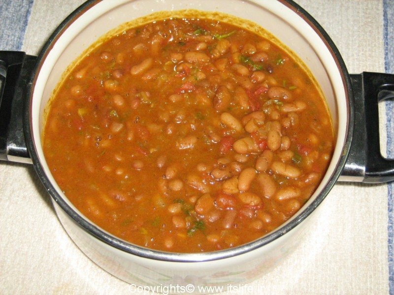 Rajma Curry - Red Kidney Beans Curry from the state of Punjab