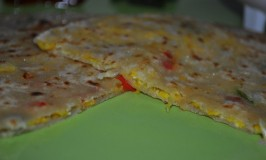 Sweet Corn and Cheese Paratha