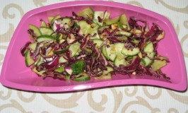 Purple Cabbage and Cucumber Salad
