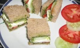 Chutney Paneer Sandwich