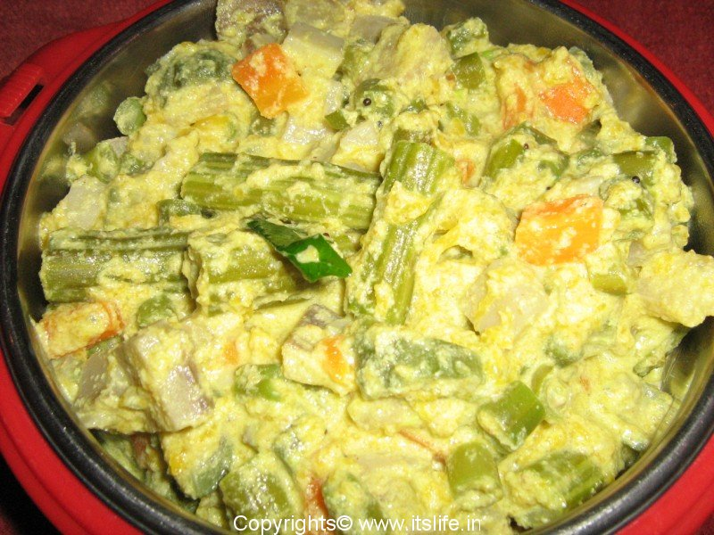 Avial mixed vegetables side dish for Avial indian cuisine