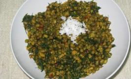 Hesarakalu and Sabsige Palya – Green Gram and Dill Recipe